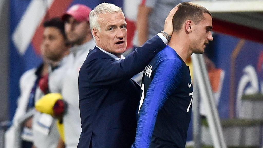 DIDIER DESCHAMPS (SELECTIONNEUR FRANCE) - 07 ANTOINE GRIEZMANN (FRA) FOOTBALL : France vs Etats Unis - Match de preparation - 09/06/2018 FEP/Panoramic PUBLICATIONxNOTxINxFRAxITAxBEL