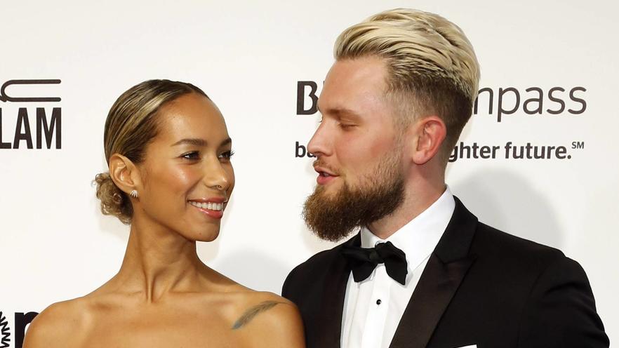 Leona Lewis und Dennis Jauch bei Elton Johns jährlicher Oscar-Party seiner AIDS Foundation.