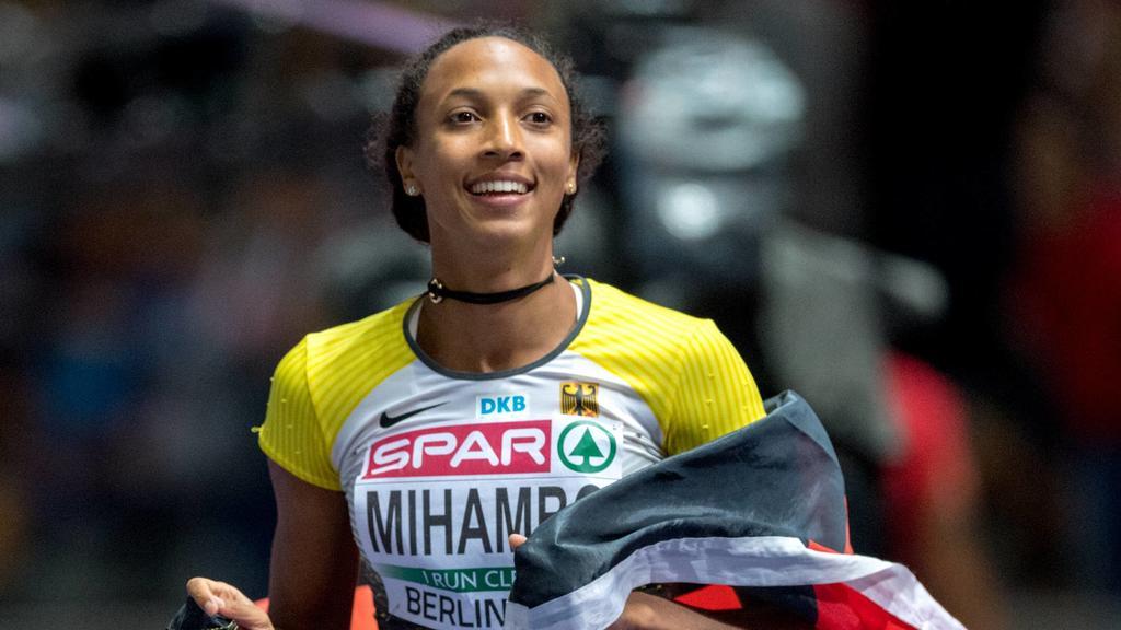 Die deutsche Weitspringerin Malaika Mihambo
