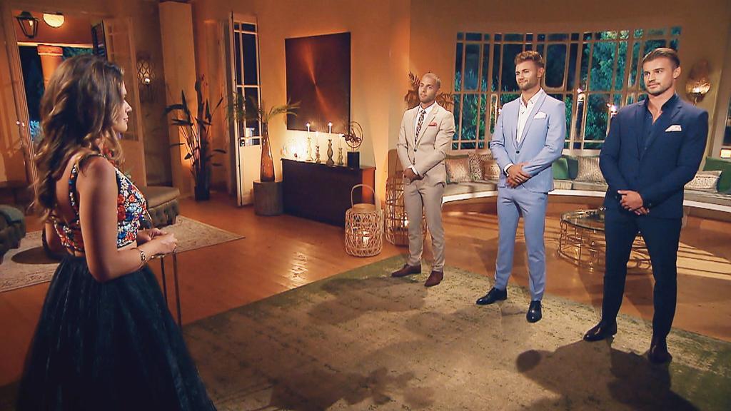 Filip, Daniel und Alex müssen zittern, während Bachelorette Nadine ihre Finalisten verkündet.