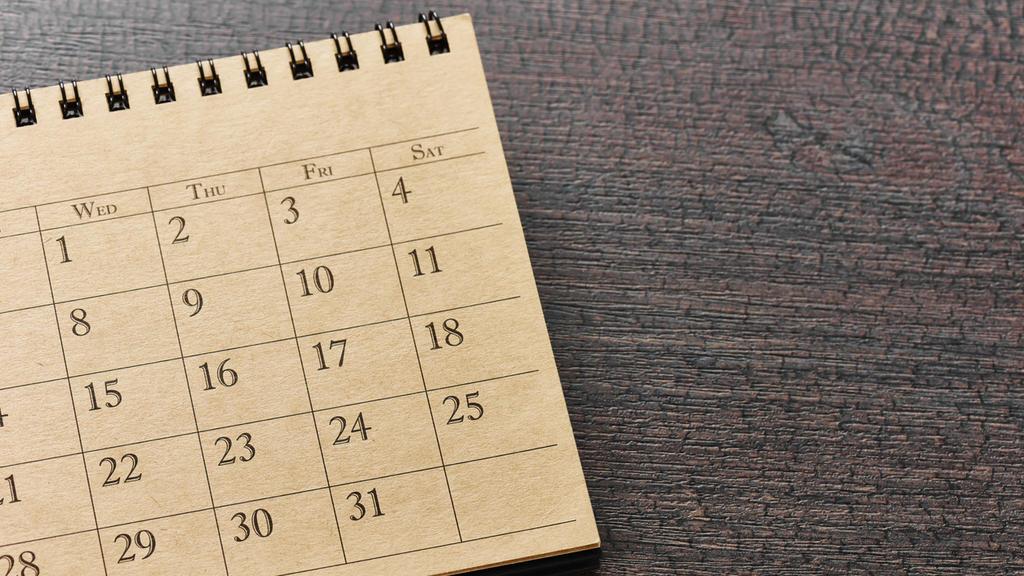 Ein Kalender im Vintage-Look