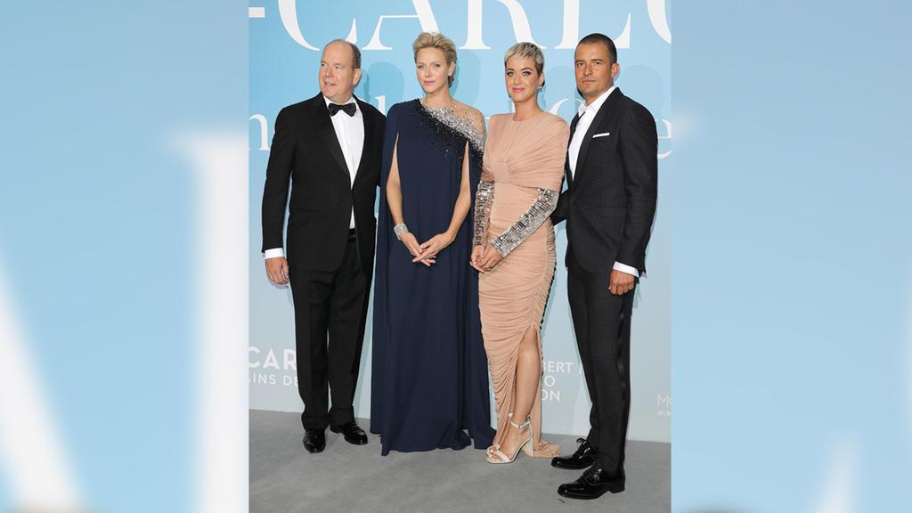 Prinz Albert, Prinzessin Charlene, Orlando Bloom und Katy Perry