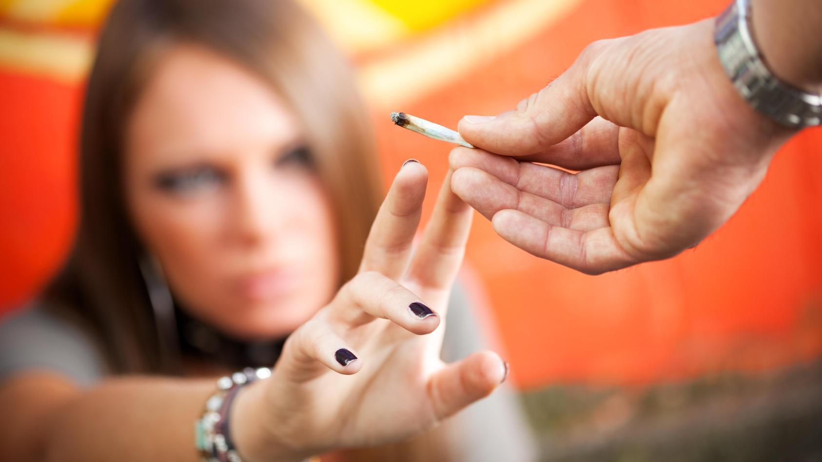 Beliebte Droge unter Jugendlichen: Cannabis.