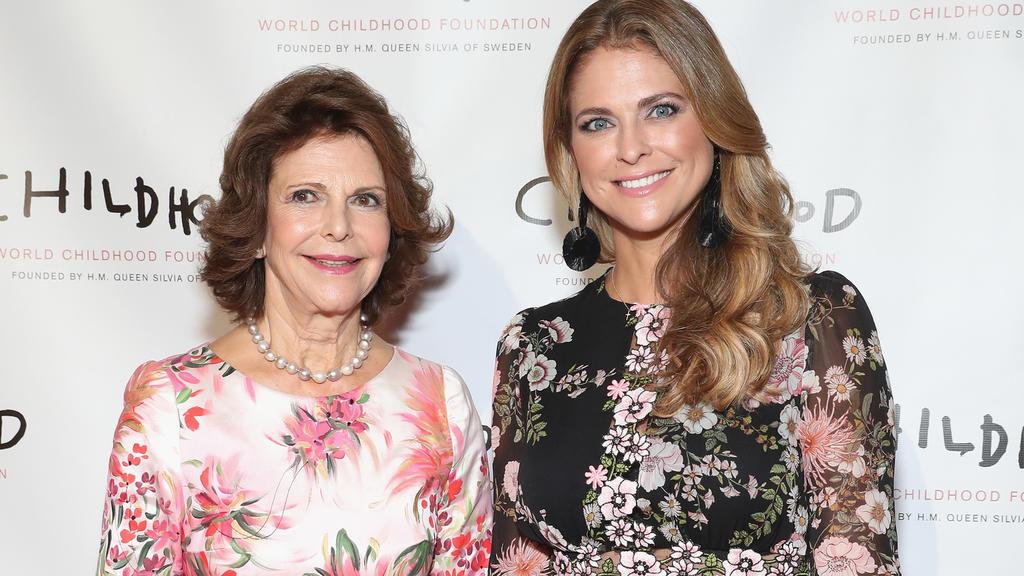"""Königin Silvia und Prinzessin Madeleine bei der """"Thank You Gala"""" in New York."""