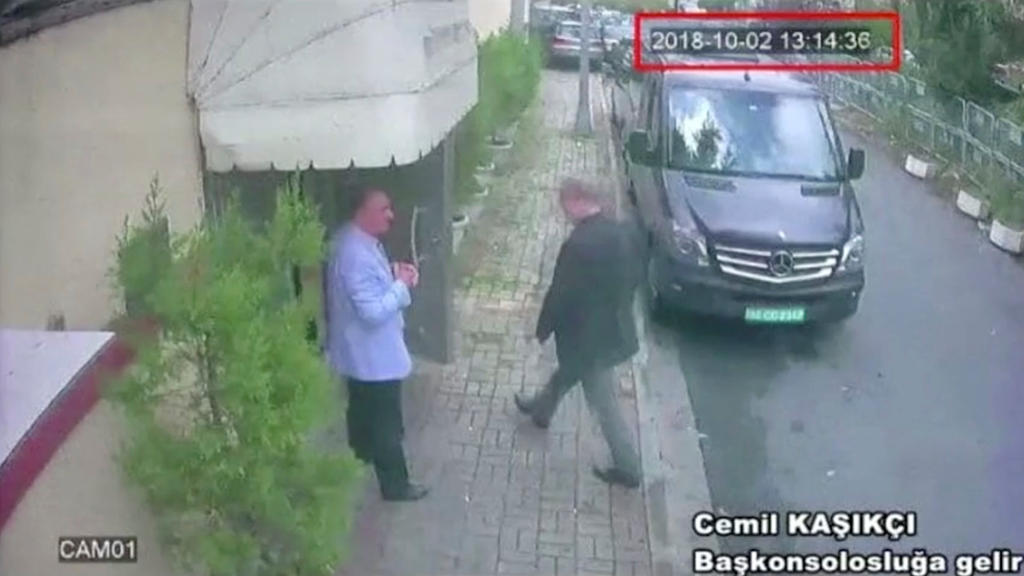 A still image taken from CCTV video and obtained by TRT World claims to show Saudi journalist Jamal Khashoggi as he arrives at Saudi Arabia's consulate in Istanbul, Turkey Oct. 2, 2018. Reuters TV/via REUTERS. ATTENTION EDITORS - THIS PICTURE WAS PRO