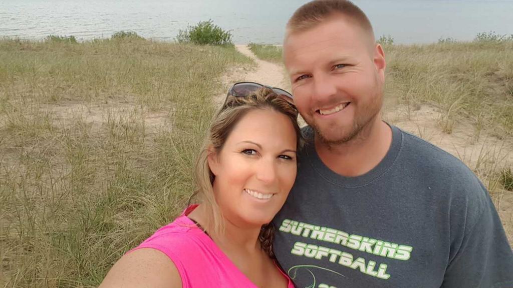 Sharran Sutherland und ihr Ehemann.