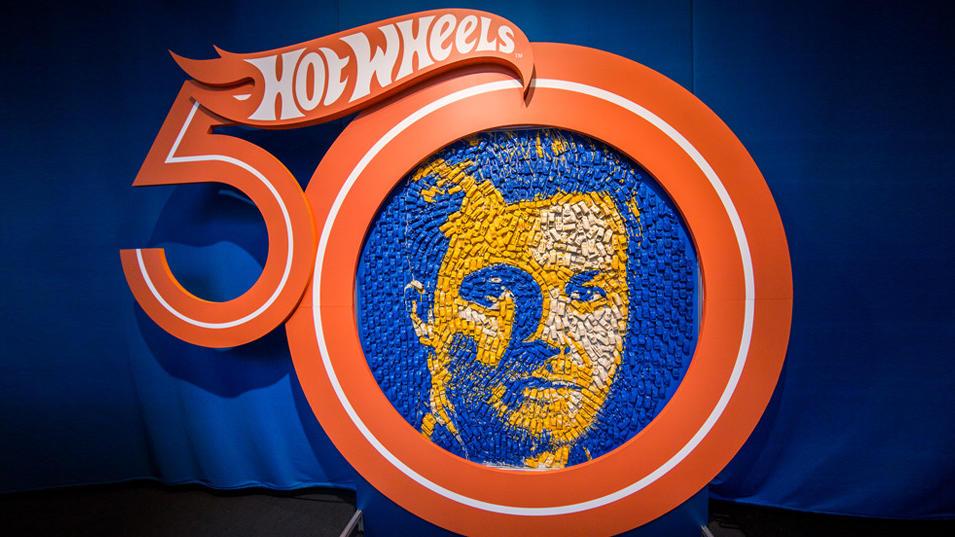 Nico Rosberg als Kunstwerk aus Hot Wheels .
