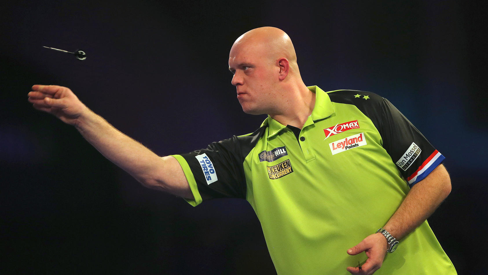 Michael van Gerwen bei der Darts-WM in London 2019.