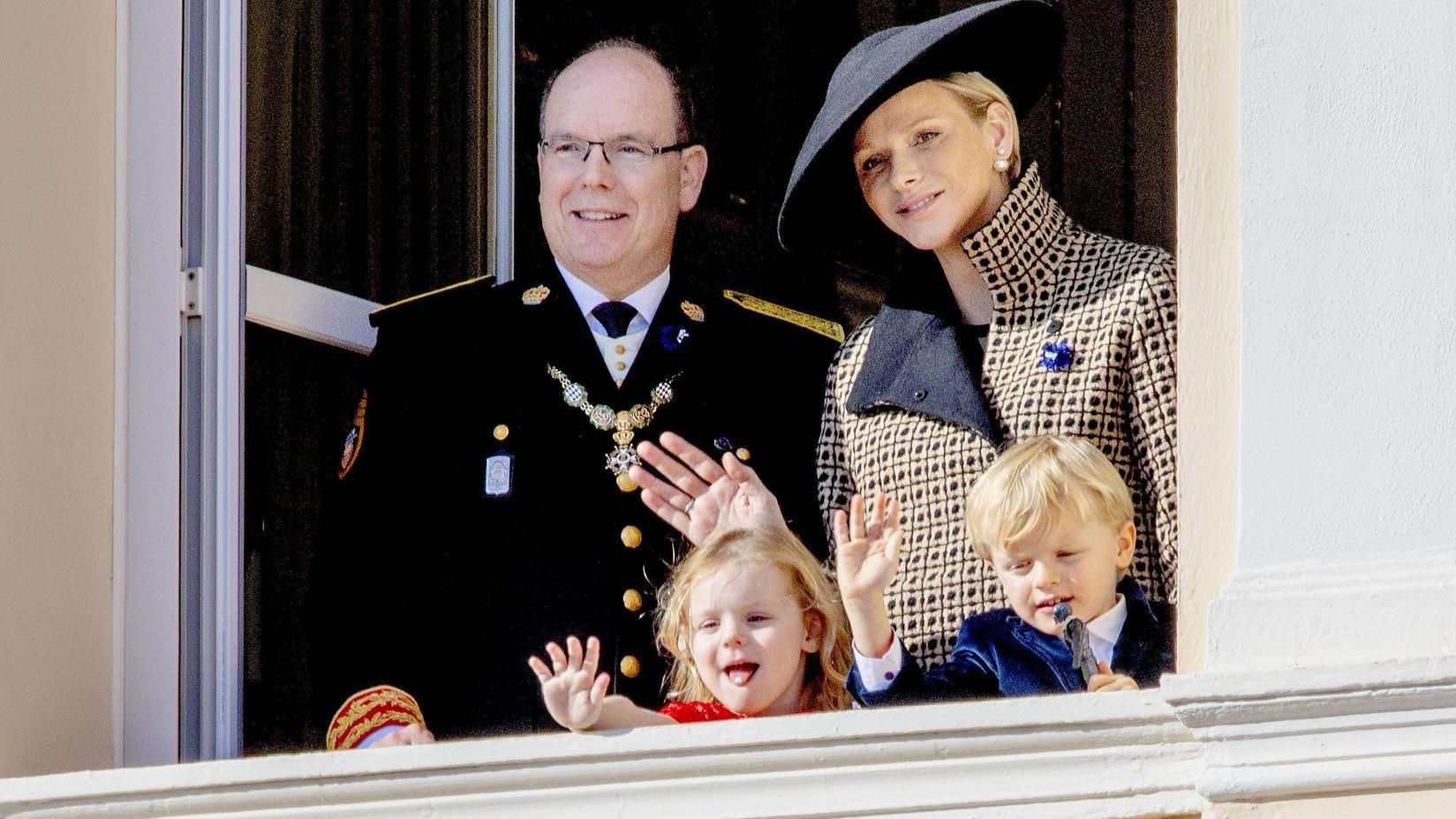 Die monegassische Fürstenfamilie am Nationalfeiertag 2018