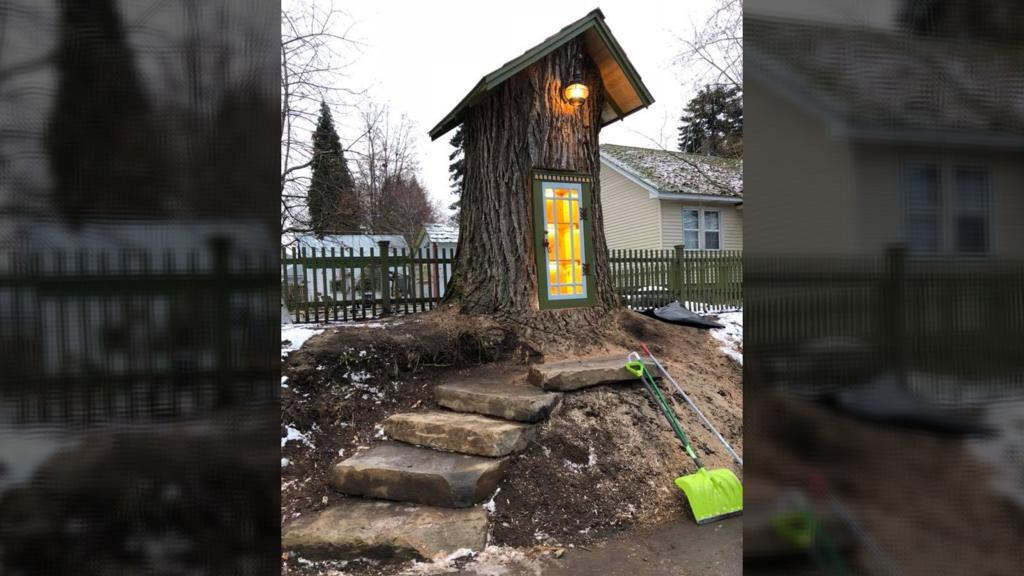Die Bibliothek im alten Baumstumpf