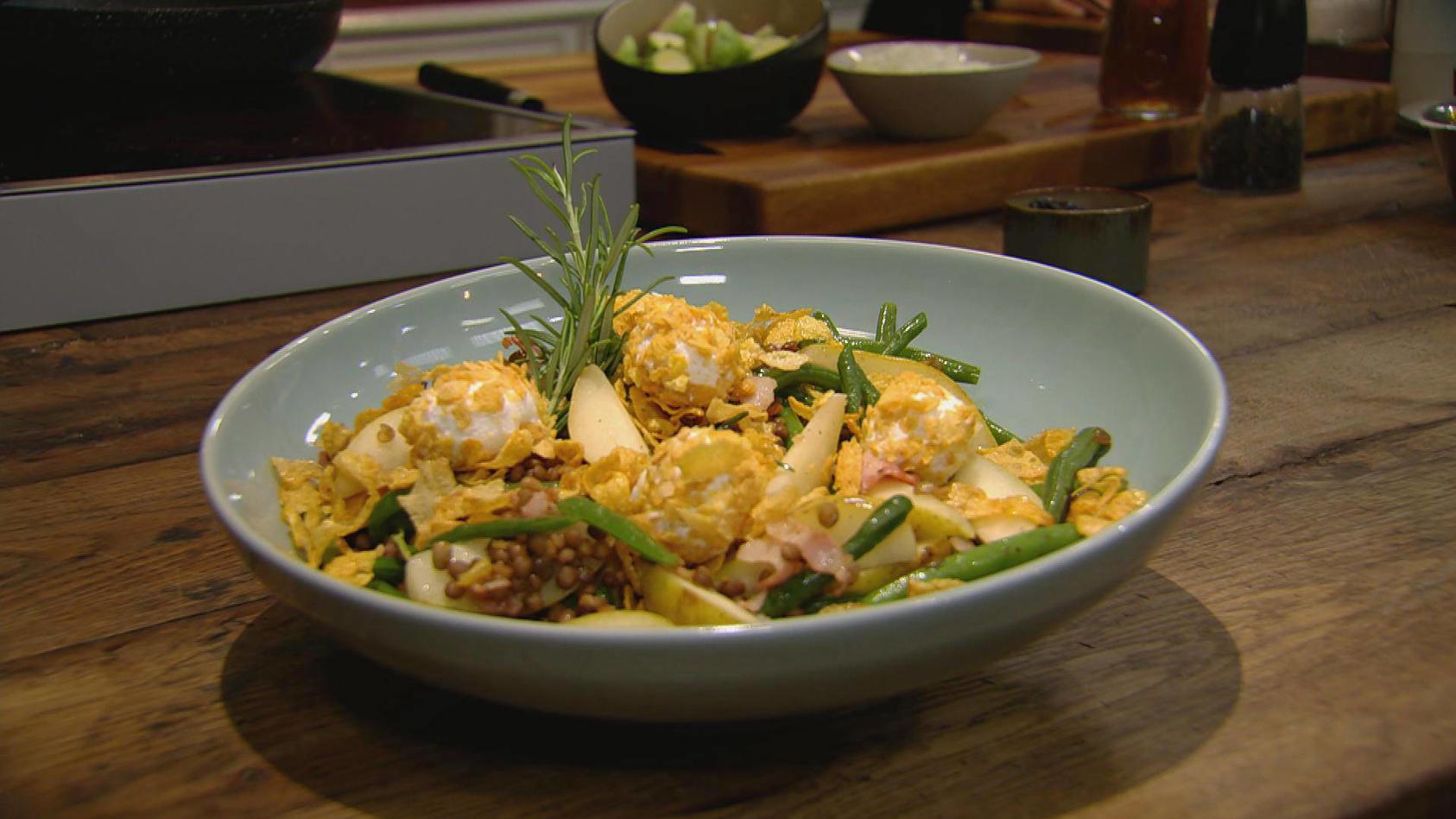 Sugar & Spice – Süß trifft herzhaft: Birnen-Bohnen-Speck-Salat