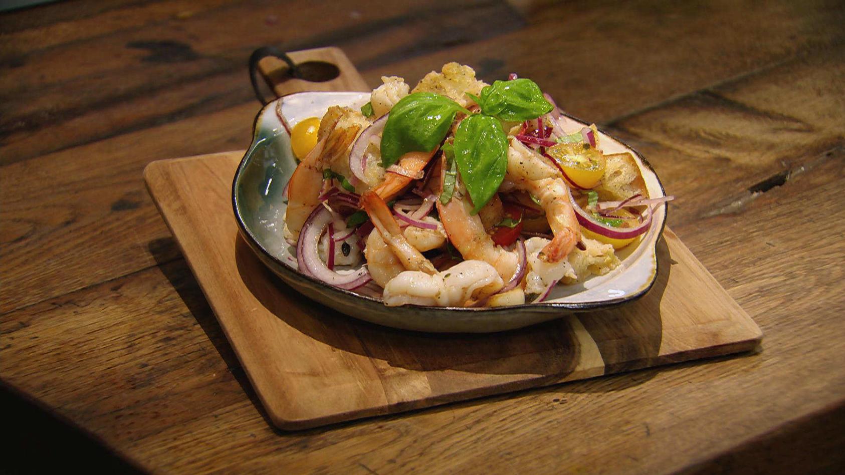 Ich will Meer – Fisch Ahoi!: Garnelen-Brot-Salat