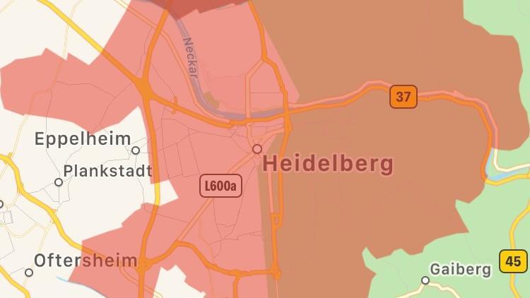 Über die Katastrophen-App Katwarn alarmierte die Feuerwehr die Bewohner von Heidelberg.