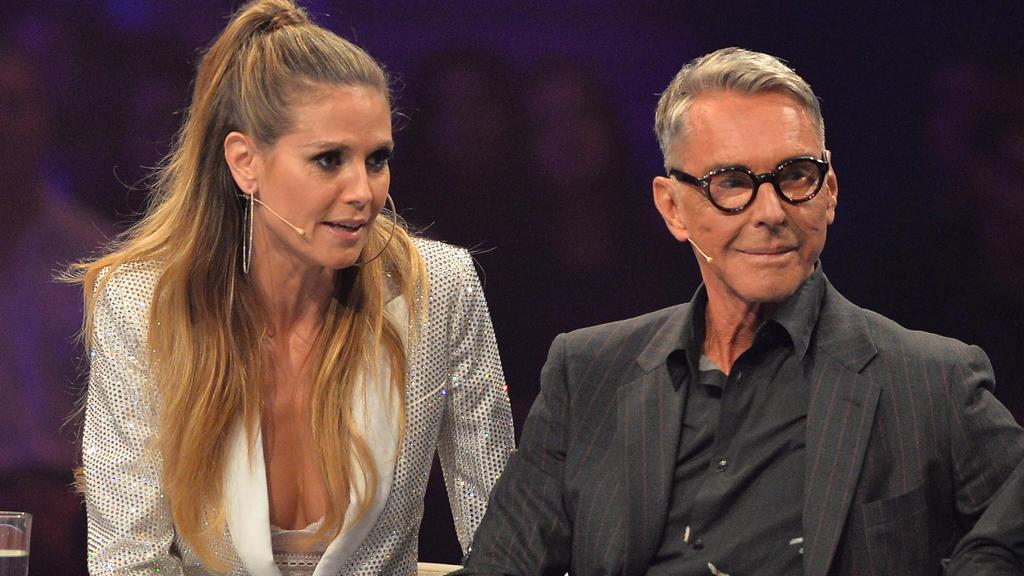 """Heidi Klum und Wolfgang Joop beim Staffelfinale von """"Germany's Next Topmodel 2017"""""""