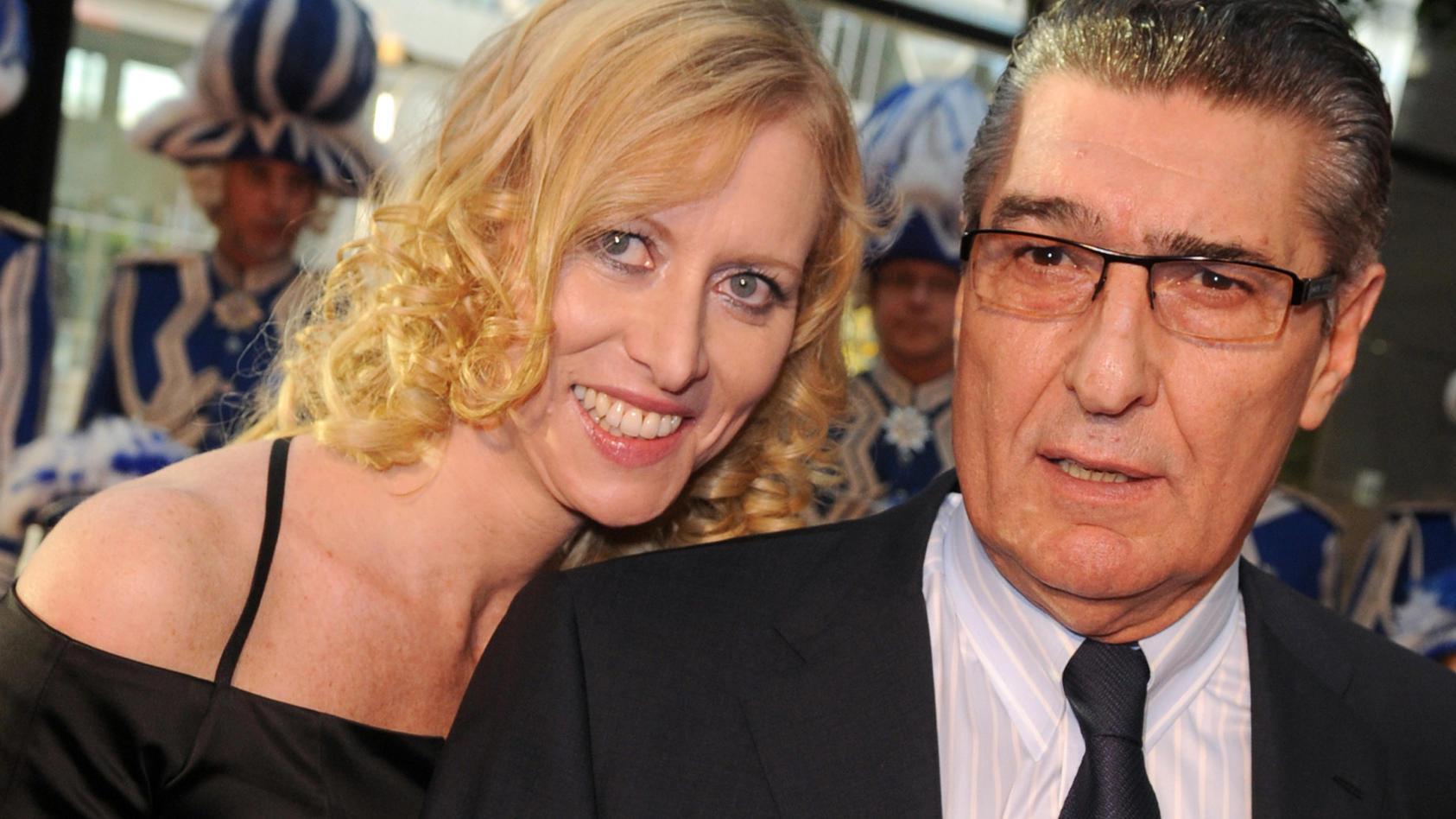 Rudi Assauer mit Ehefrau Britta (2010)