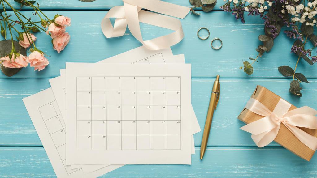 Terminplaner für die Hochzeitsvorbereitung