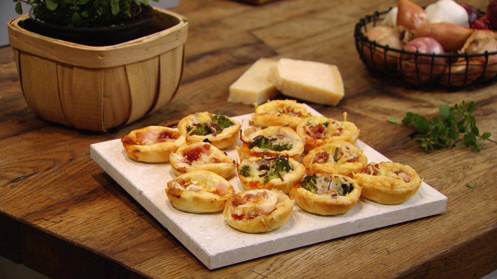 Pizza, Pasta, Panna Cotta – Das schmeckt nicht nur in Italien: Dreierlei Mini-Pizzen