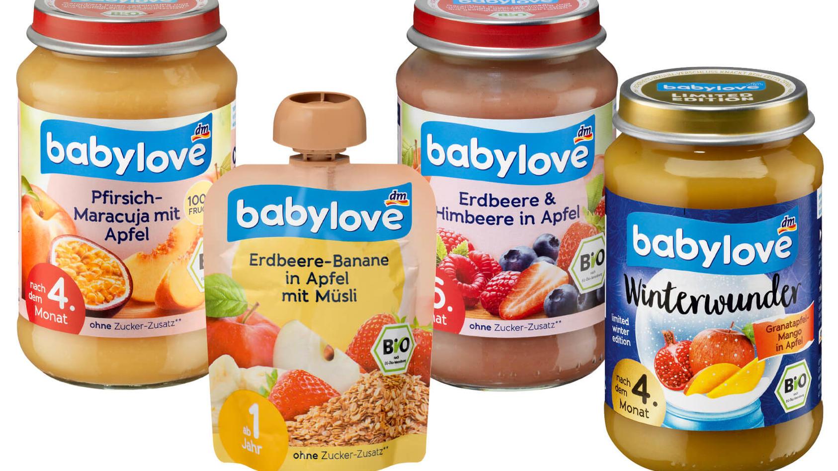 """Drogeriemarkt dm ruft """"babylove""""-Produkte zurück."""