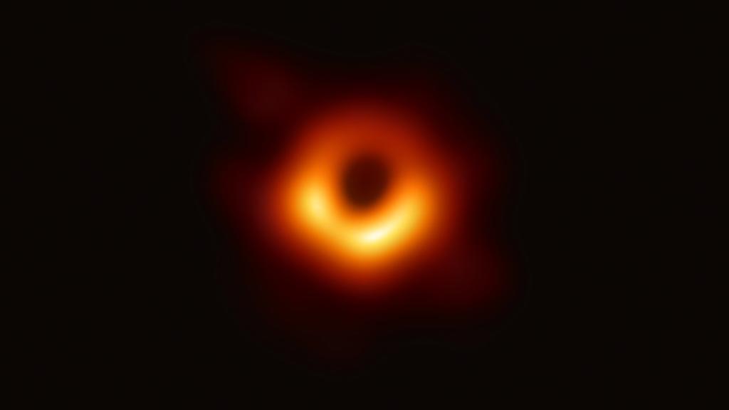 Das Bild zeigt ein sehr großes Schwarzes Loch