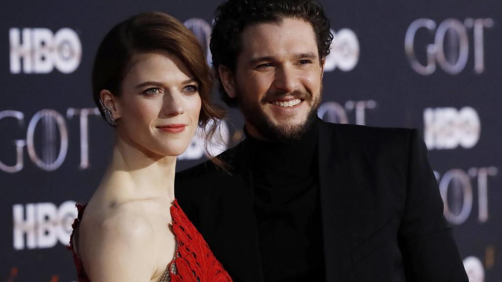 """Rose Leslie und Kit Harington bei der Premiere der finalen """"Game of Thrones""""-Staffel."""