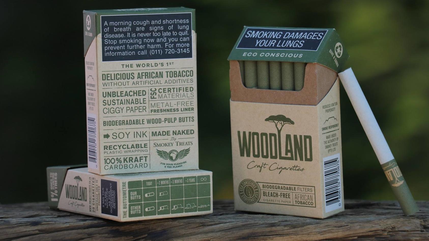 """Die Firma """"Smokey Treats"""" vertreibt Zigaretten, die angeblich komplett biologisch abbaubar sind."""