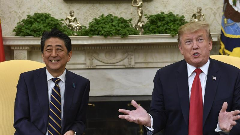 Donald Trump und Shinzo Abe