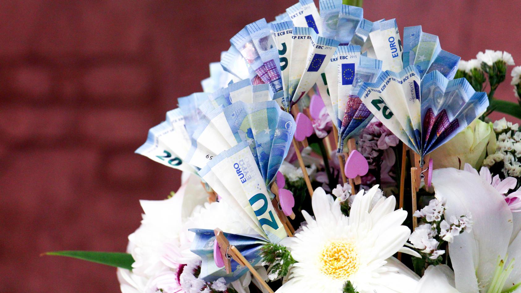Falten blume draht geld ohne VIDEO: Geld