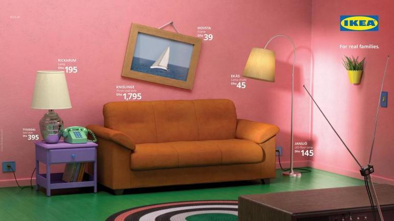 Wohnzimmer der Simpsons bei Ikea
