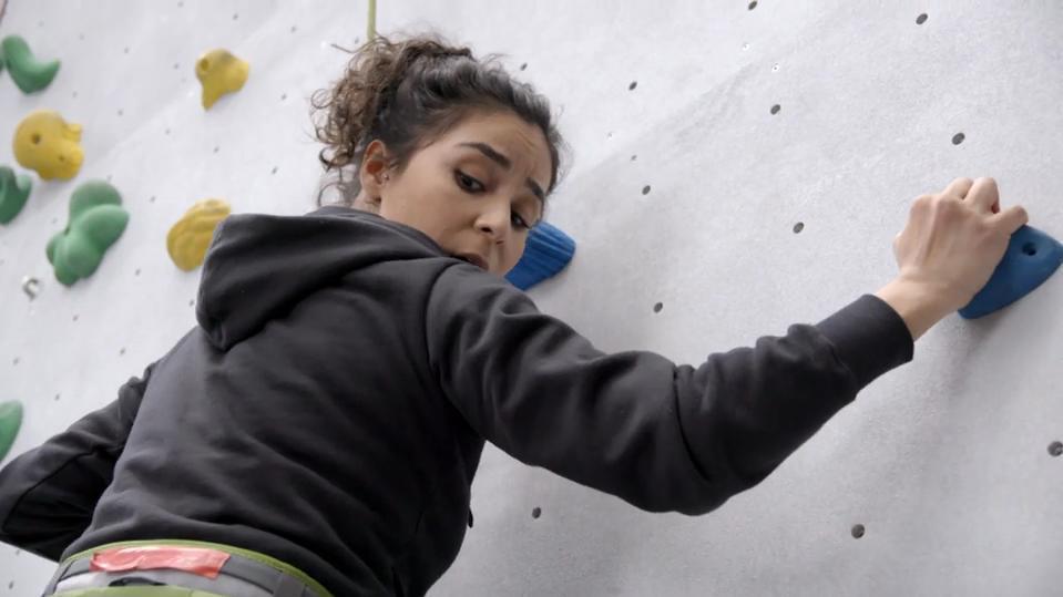 Gamze Senol musste sich beim Klettern überwinden