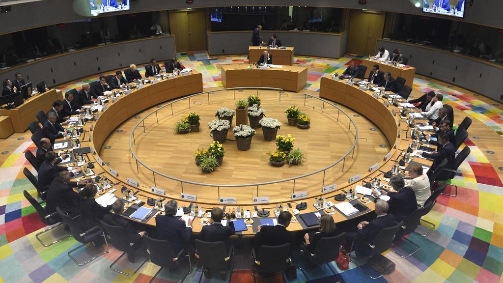 Die EU-Staats- und Regierungschefs während eines EU-Gipfels