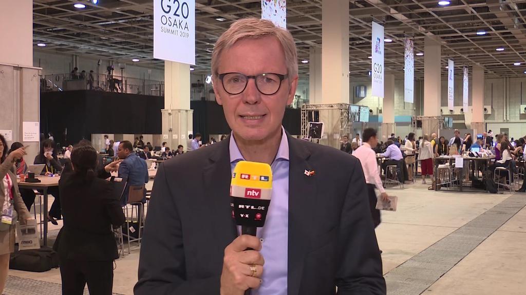 Lothar Keller, politischer Chefkorrespondent von RTL, beim G20-Gipfel in Osaka