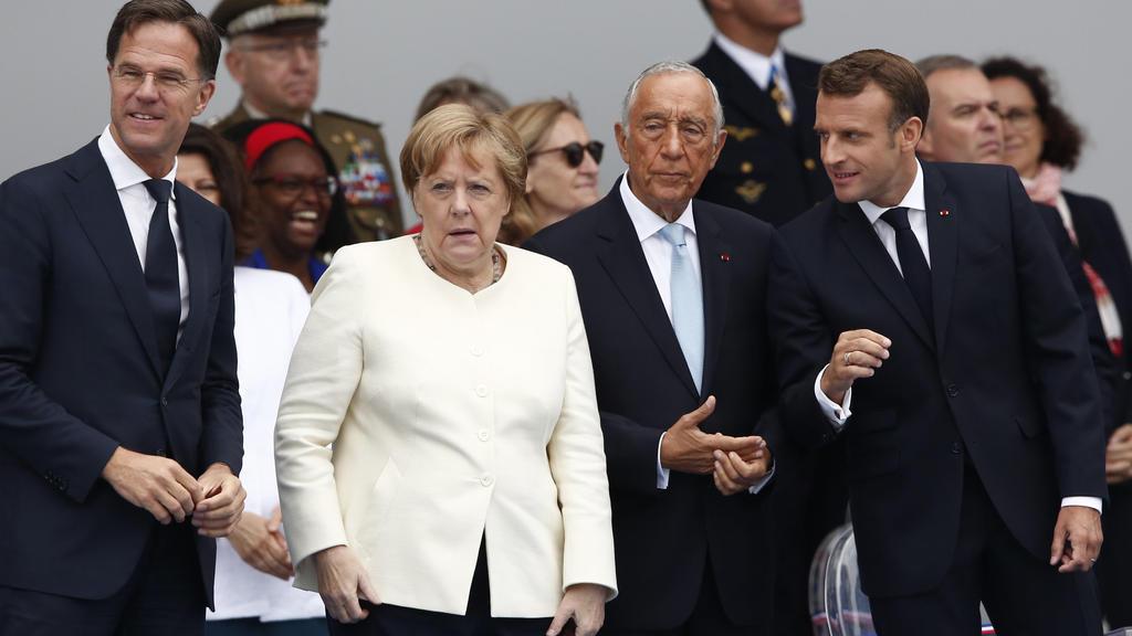 Bundeskanzlerin Angela Merkel in Paris