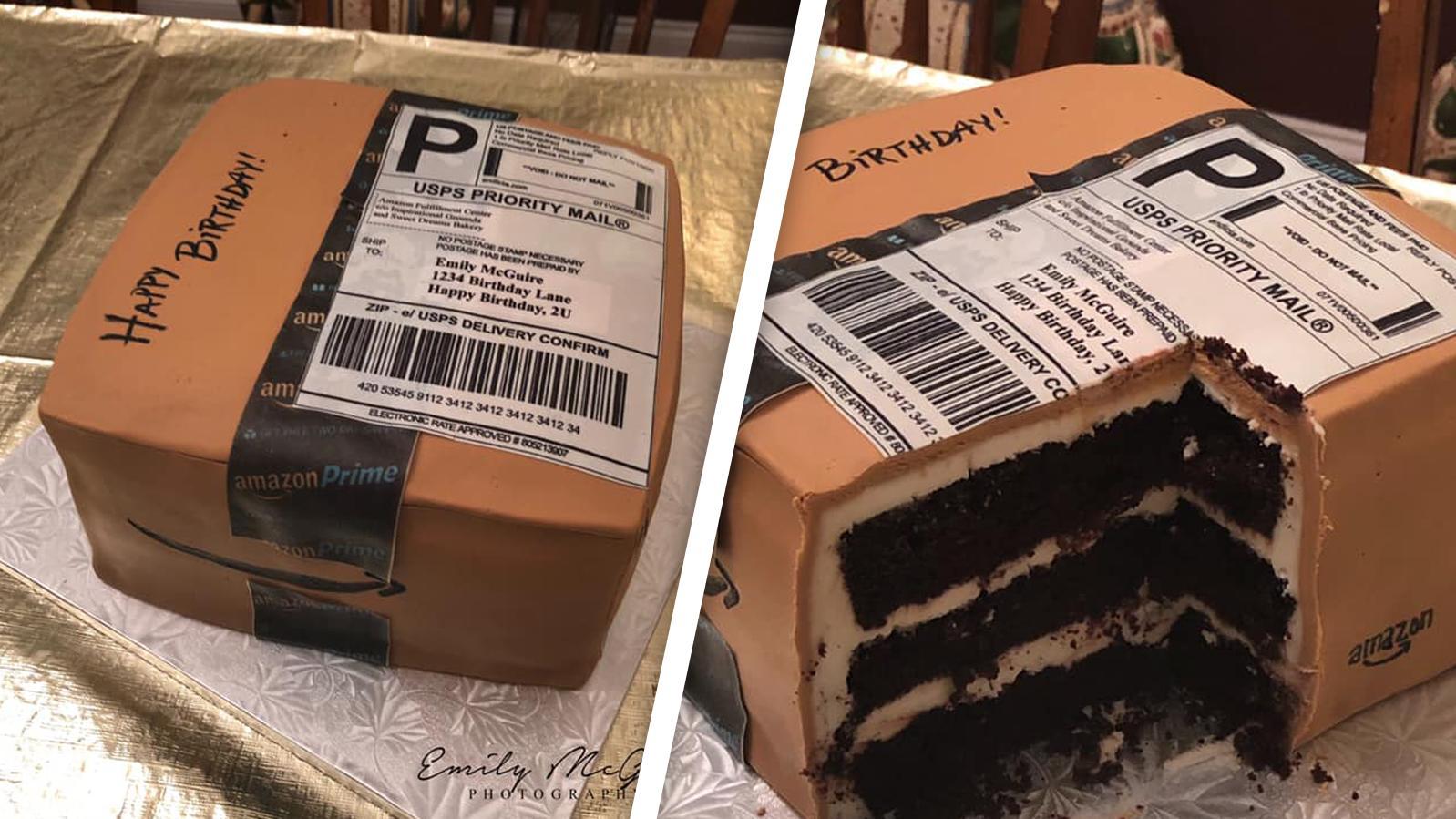 Ein ganz besonders köstliches Paket, oder? (Kuchen von Sweet Dreams Bakery in Dunn, North Carolina)