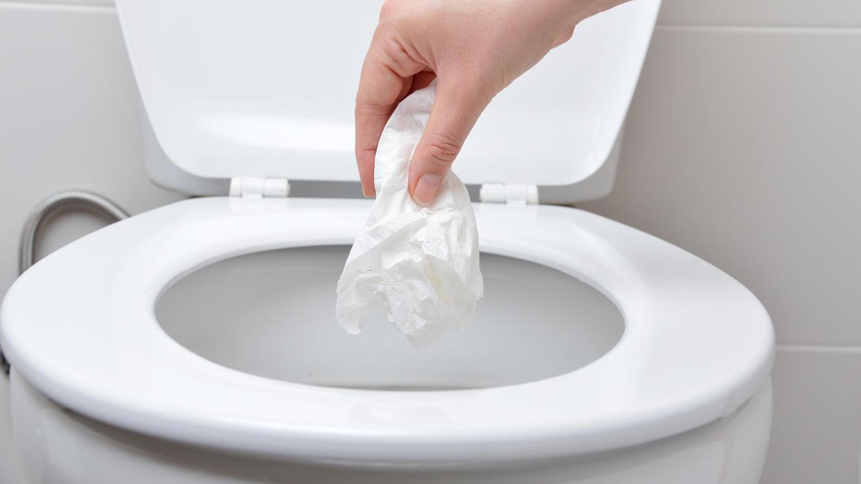 Die Toilette ersetzt keinen Mülleimer!