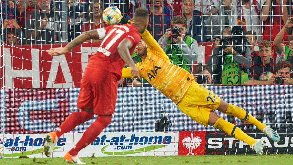 Jerome BOATENG (FCB 17) failed penalty against Hugo LLORIS, Hotspurs 1 FC BAYERN MUNICH - TOTTENHAM HOTSPUR Football AUDI CUP 2019 , A l l i a n z A r e n a Munich, July 31, 2019 FCB, Season 2019/2020, München