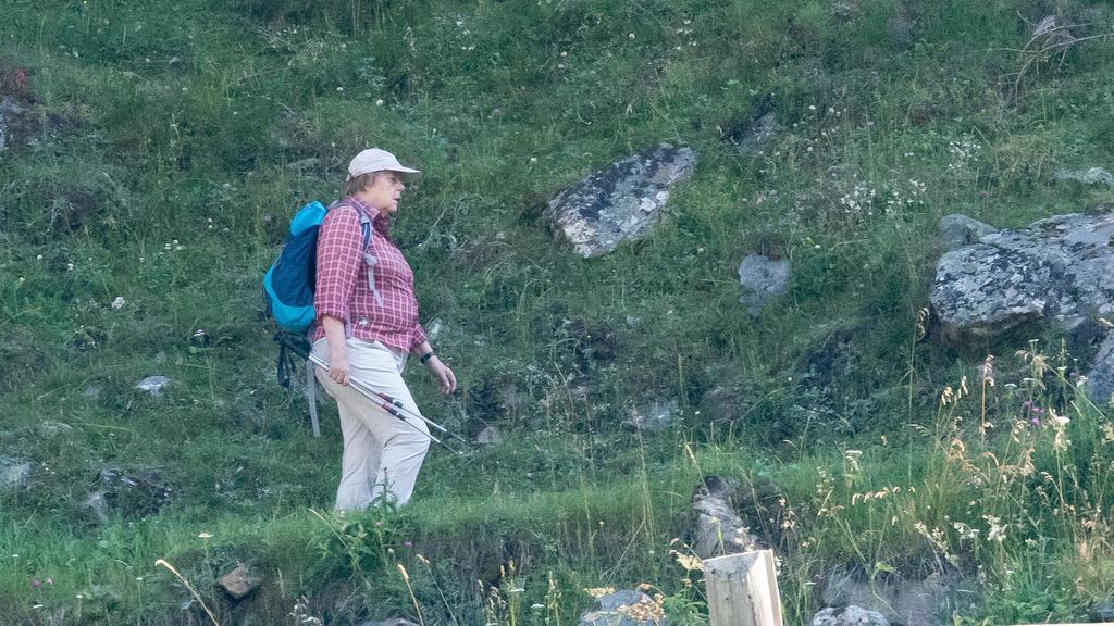 Angela Merkel wandert in Südtirol
