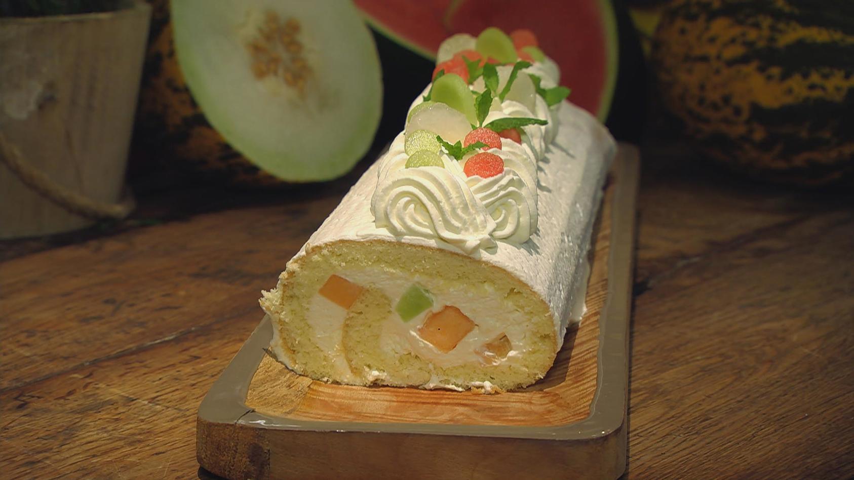 Herrlich Melonig – Exotische Frische in der Küche: Melonen-Sahne-Rolle
