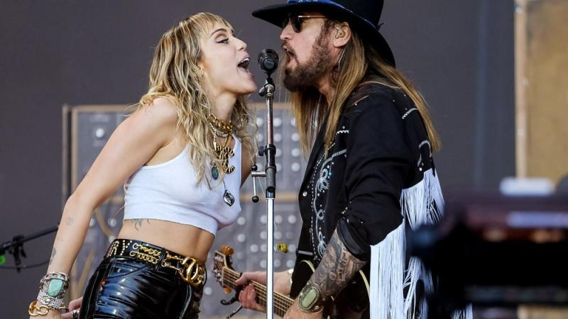 Billy Ray Cyrus mit Tochter Miley