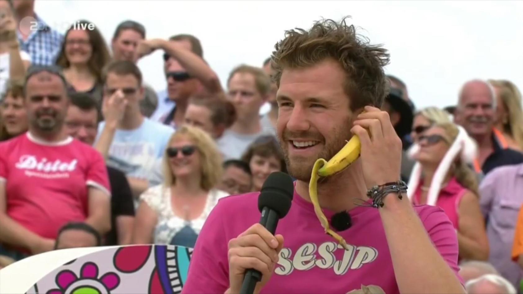 Luke Mockridge bei seinem Gaga-Auftritt beim ZDF-Fernsehgarten.