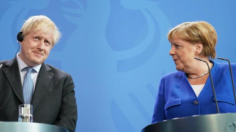 Bundeskanzlerin Angela Merkel (CDU) und Boris Johnson