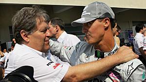 Norbert Haug (li.) und Michael Schumacher verbindet ein inniges Verhältnis.