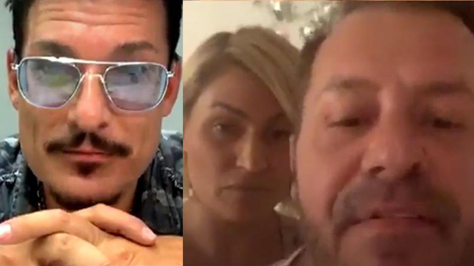 """Currywurstmann Chris Töpperwien im Livestream vom """"Sommerhaus der Stars"""" mit Jasmin und Willi Herren."""