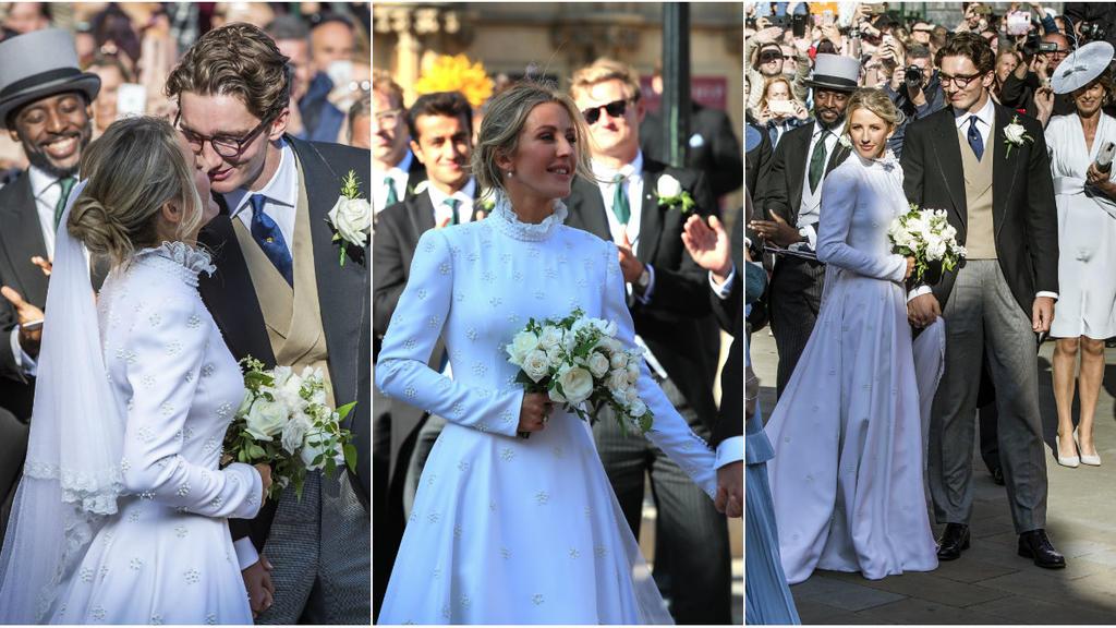 Ellie Goulding heiratete in einem Traum in Weiß von Chloé.