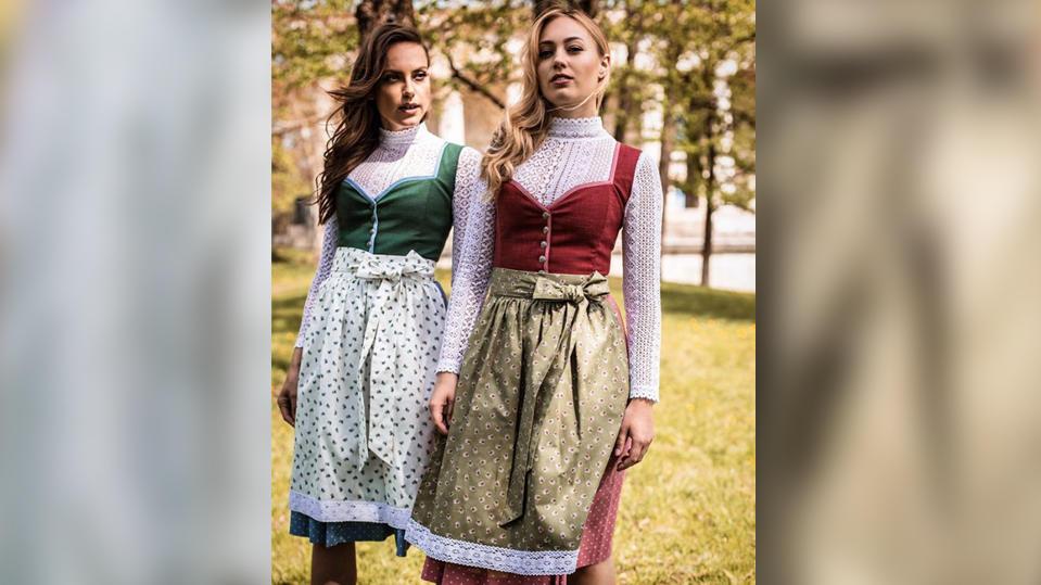 """Sexyness ist out. Die Dirndl-Trends 2019 eher klassisch, wie hier bei """"JAN&INA Trachten""""."""