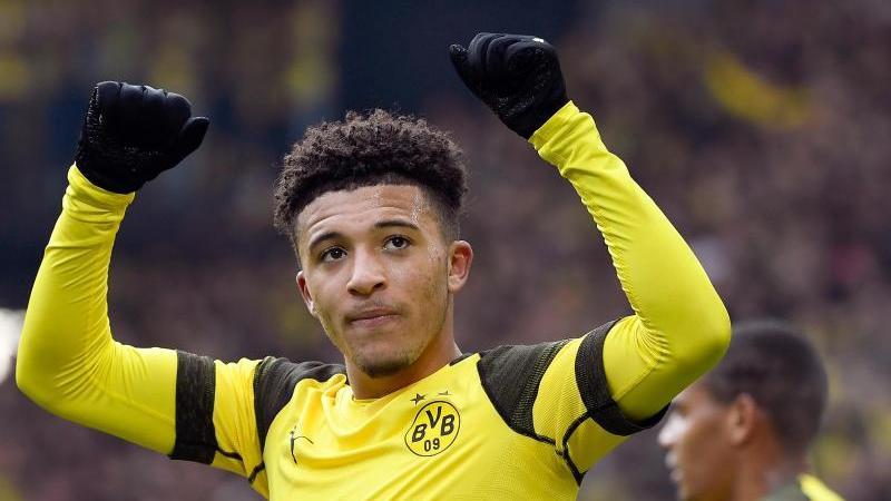 Jadon Sancho von Dortmund bejubelt sein Tor zum 2:0 gegen Mainz. Foto: Ina Fassbender/Archivbild