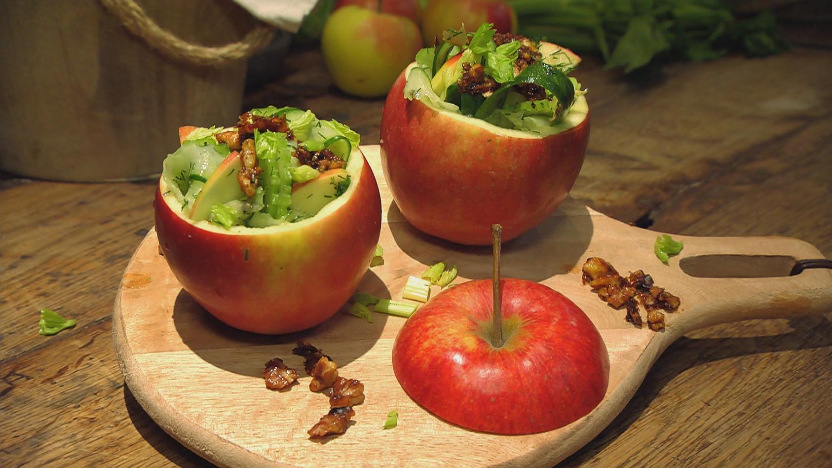 Ein echter Alleskönner – Leckeres mit Apfel: Gurken-Apfel-Salat