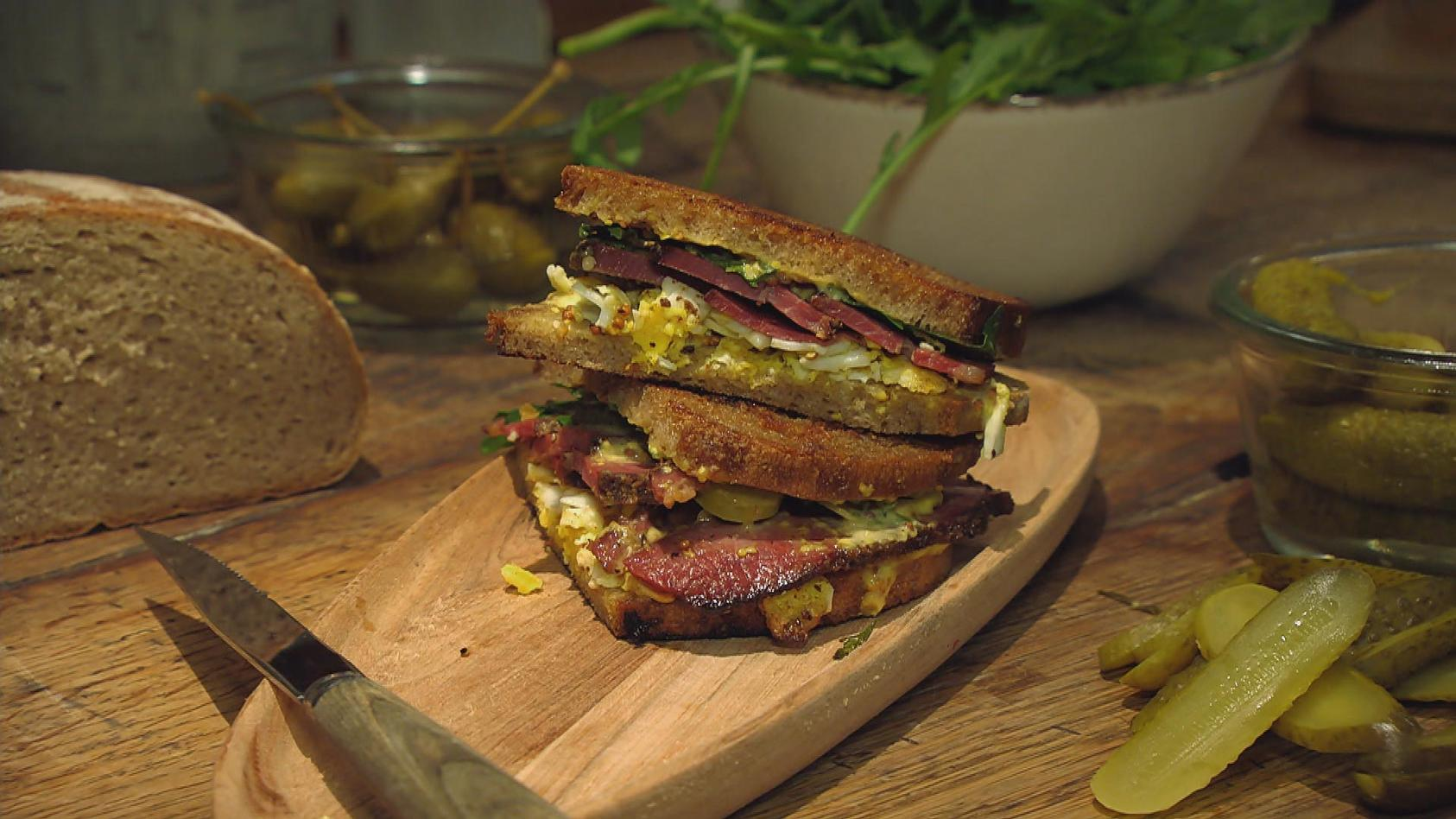Hollywood Filmabend – Prominente Gerichte zum Nachkochen: Pastrami-Sandwich à la Harry and Sally