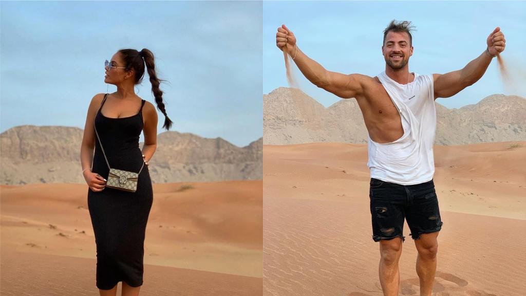 Janine Pink und Tobi Wegener in der Wüste