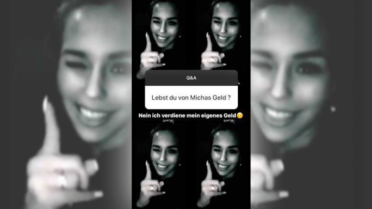 Laura Müllers Antwort bei Instagram