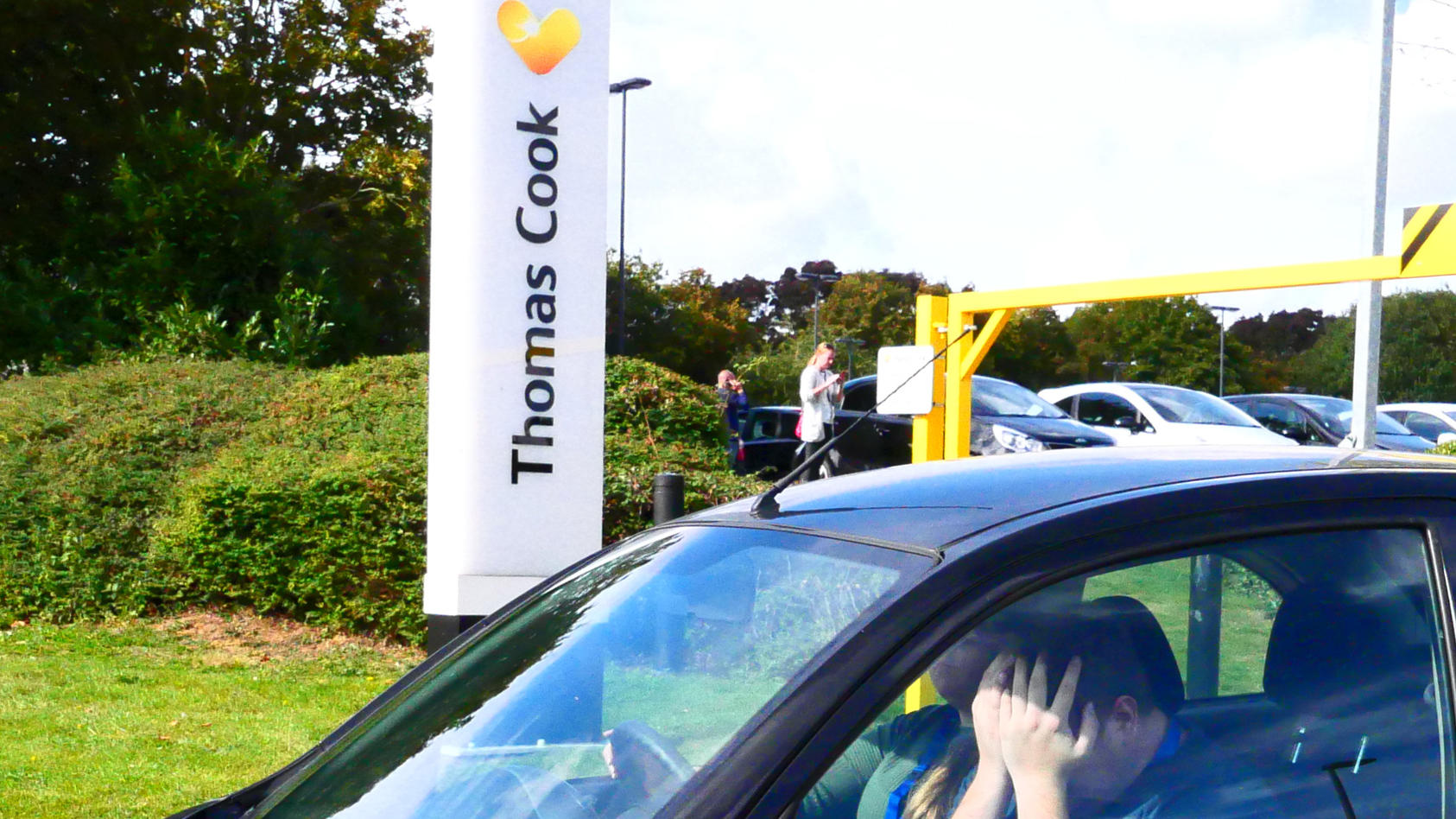 Thomas Cook headquarters, Peterborough, Cambridgeshire, UK on September 23, 2019, the day that Thomas Cook travel firm collapsed.